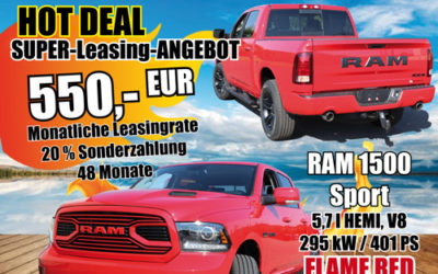 Hot DEAL Super Leasing Angebot RAM 1500 Sport